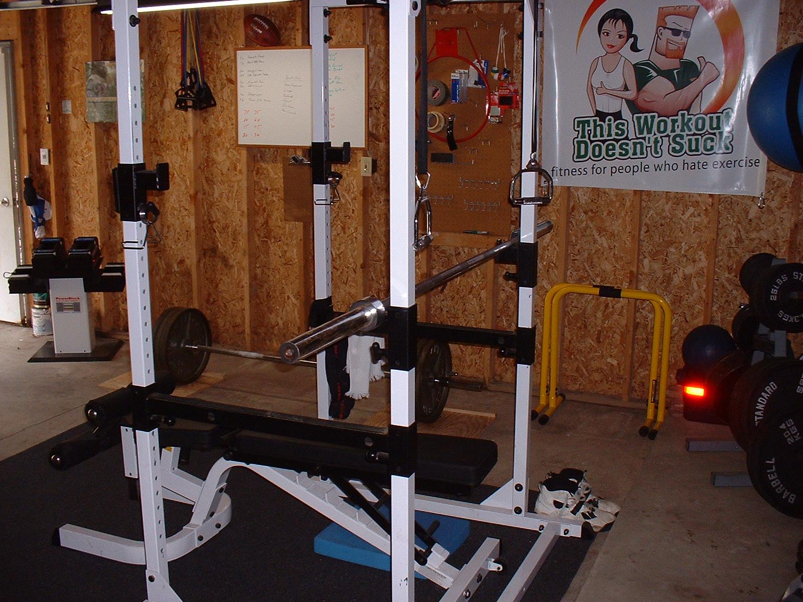 Garage gym iron man