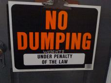 no dumping weights